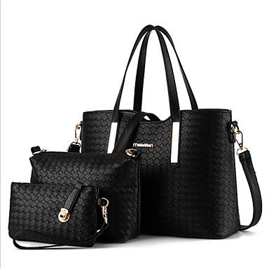 Žene Torbe Poliester Bag Setovi 3 kom Patent-zatvarač Crn / Pink / Lila-roza