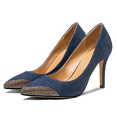 de Chaussures Bleu Talons Talon Toile Confort Aiguille à Femme Chaussures Eté 06858427 Noir jean aEU4pxpR
