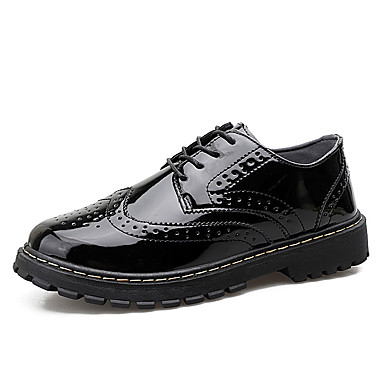 Men's Formal Shoes PU(Polyurethane) Fall Casual Wine Oxfords Breathable Black / Wine Casual 5179b8