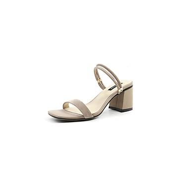 Bleu 06848469 Femme Daim Chaussures été Talon Sandales royal Amande Bottier Printemps Confort Noir vxHBq7v1