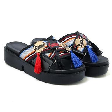 Tacón Plano Verano Sandalias Confort de Blanco Negro Dorado Zapatos Mujer 06862458 Cuero Napa wIUxT0AIq8