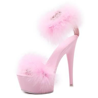 06858649 Blanc été Noir Chaussures Confort Talon Sandales Femme Aiguille Printemps Rose Polyuréthane wPqW8a