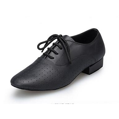 Men s Modern Shoes Nappa Leather Oxford MiniSpot Cuban Heel Customizable Dance  Shoes Black   Performance   c834798667ba