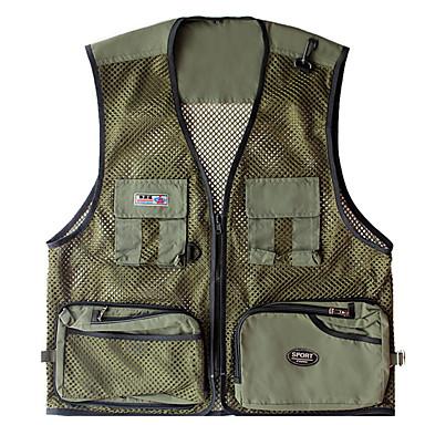 رخيصةأون ملابس الماء و الصيد-رجالي الصيد للسمك سترة خفة الوزن التنفس إمكانية الصيد صيد السمك الرياضة & في الخارج / شبكة