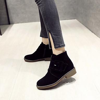 rond Demi Automne Kaki amp; Botillons Talon Bout Bottes Daim Boucle Noir Femme Printemps 06869576 Bottine Bottier Chaussures daim en Botte WUX6xnSq7