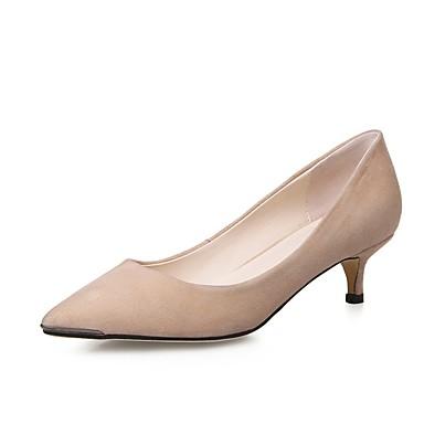 Chaussures Femme 06857321 Escarpin Basique Daim Amande Talon Talons Aiguille Eté Chaussures à Rouge Noir OqZwXrO
