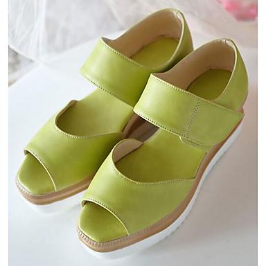 Confort Verde Amarillo Rosa Sandalias Zapatos 06862205 Tacón PU Plano Mujer Verano 6ZxPwgt6q
