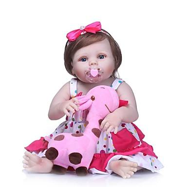 NPKCOLLECTION NPK DOLL Lalki Reborn Dziewczyna Lalki Dziewczynki 24 in Silikony całego ciała Winyl - Noworodek Prezent Sztuczne niebieskie oczy Dzieciak Dla dziewczynek Zabawki Prezent