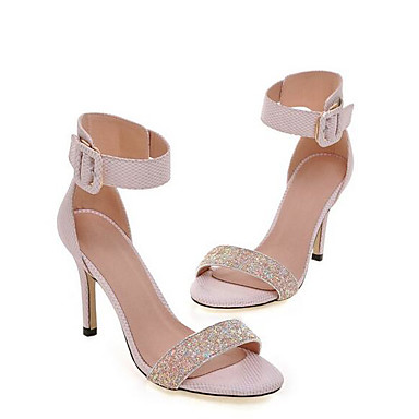 Tela Zapatos Stiletto Blanco Sandalias Mujer Gris 06848639 Primavera Confort Rosa Tacón xY1nff7w