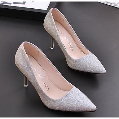 42a7170a6 للمرأة أحذية الراحة PU ربيع & الصيف كعوب كعب ستيلتو ذهبي / فضي