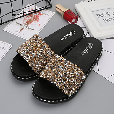 Women's Slippers House Slippers Geometric Pattern Plastic Beading Shoes