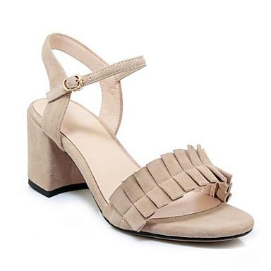 Rose Daim Bottier Confort Chaussures 06849014 Sandales Talon Eté Noir Amande Femme q8Owax