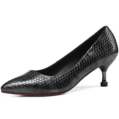 Aiguille à Chaussures Talons 06841067 Basique Confort Noir Rouge Automne Chaussures Escarpin Cuir Femme Verni Talon SwPqS8