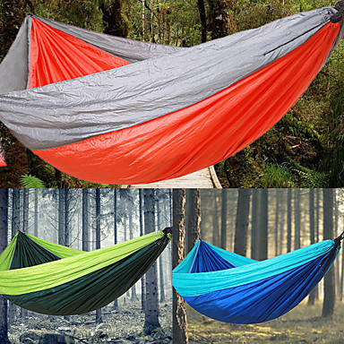 Camping Hammock Outdoor Portable, Lightweight for Camping / Hiking / Outdoor / Travel - 2 person Dark Blue / Red / Green