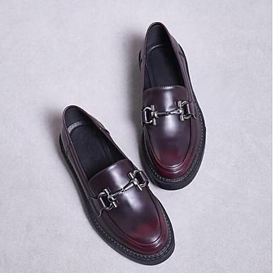 Punta Zapatos taco Negro Borgoña bajo Slip 06848719 y On cerrada de Mujer Plano Confort Zapatos Verano Microfibra Tacón Primavera nqfwp6