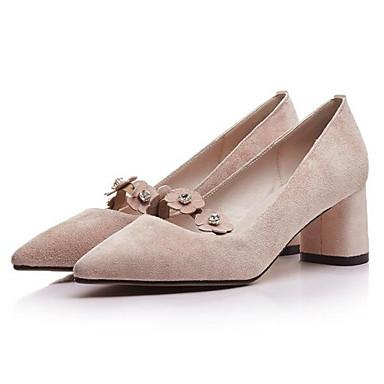 Confort Bleu Daim Femme Printemps Talons Talon Bottier Noir Chaussures Rose à Chaussures 06849414 5tqqA