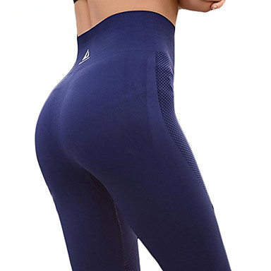 a6e5ab04bf204 Women's Patchwork Yoga Pants Blue Dark Red Light gray Sports Solid Color High  Rise Leggings Bottoms