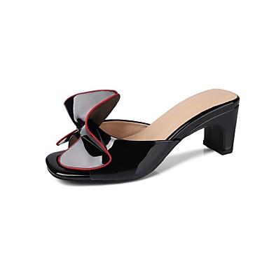 Confort Chaussures 06862264 Cuir Noir Rouge Sandales Verni Blanc Talon Bottier Femme Eté pIPdwRxqI