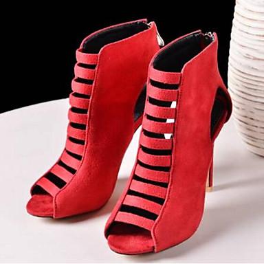Tacones Negro Rojo 06843139 Zapatos Puntera Pump Mujer Azul Cuero Primavera abierta Stiletto Básico de Napa Tacón Oscuro Verano w1qTpx8qn