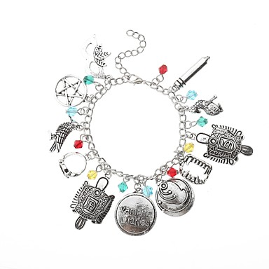 c79e954ae52cb Women's Charm Bracelet Retro Hollow Creative Ladies Tattoo Style Anime Punk  Alloy Bracelet Jewelry Silver For Street Bar