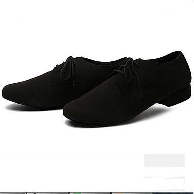 Homme Chaussures de de de Jazz Matière synthétique Basket Talon épais Chaussures de danse Noir / Marron / Vert 469495