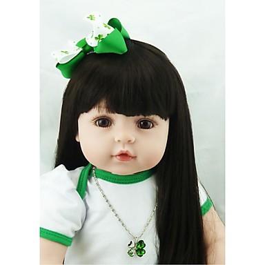 NPKCOLLECTION NPK-PUPPE Lebensechte Puppe Mädchen Puppe Baby Mädchen 24 Zoll Neugeborenes lebensecht Geschenk Handgefertigt Kindersicherung Non Toxic Kinder Mädchen Spielzeuge Geschenk