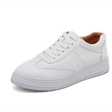 Talon Automne Confort Cuir Blanc Basket Femme Plat 06863899 Chaussures fFqTXX