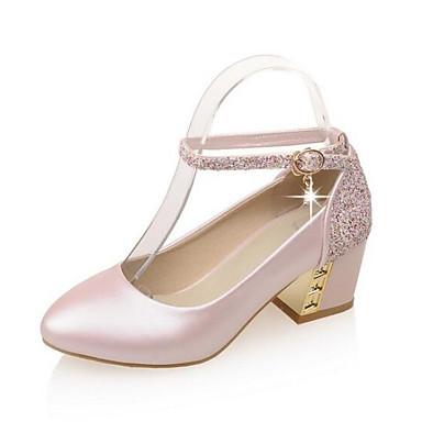 Tacón Azul 06862055 Cuadrado Beige PU Rosa Zapatos Tacones Confort Primavera Mujer xv8gqHwpXn