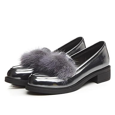 et Mocassins Femme Confort Verni Automne Chaussures Chaussons Cuir Bottier D6148 Gris 06848836 Noir Talon fBqfHY