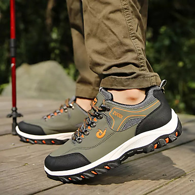 Homme Polyuréthane Automne Automne Automne Confort Chaussures d'Athlétisme Randonnée Couleur Pleine Noir / Jaune / Vert   Respectueux De L'environnement  de4fb7