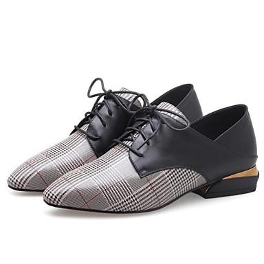 Confort Blanc Noir Printemps Chaussures Cuir Plat Talon Oxfords Eté 06850011 Nappa fermé Bout Femme wqXx1Z7q