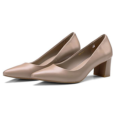 Confort Printemps Cuir Basique Chaussures Bottier 06848724 Talon Chair à Automne Escarpin amp; Talons Jaune Chaussures Nappa Femme YFAqTw