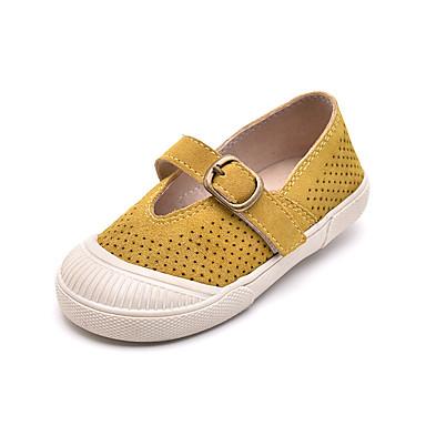 baratos Sapatos de Criança-Para Meninas Camurça Rasos Criança (9m-4ys) / Little Kids (4-7 anos) Conforto Velcro Amarelo / Verde Verão / Estampa Colorida / Borracha