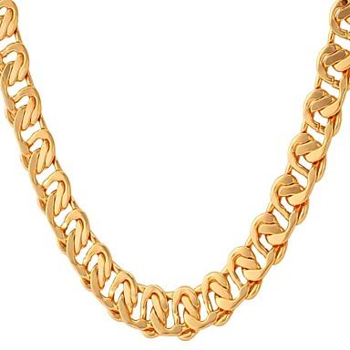 billige Mote Halskjede-Herre Kjedehalskjeder Link / Kjede Mote Kobber Gull Sølv Rose Gull 55 cm Halskjeder Smykker 1pc Til Gave Daglig