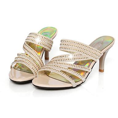Women's Comfort Shoes Suede / Spring Sandals Stiletto Heel Gold / Suede Black ee7fb5