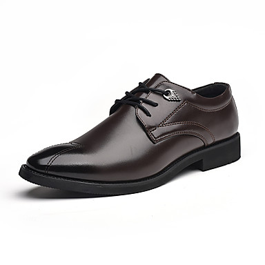 Men's Formal Shoes Faux Leather / PU(Polyurethane) Black Fall Business Oxfords Non-slipping Black PU(Polyurethane) / Brown 2a5d05