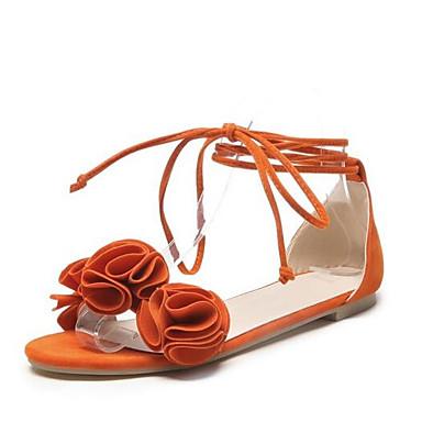 Femme Chaussures de confort Daim Eté    s Talon Bas Orange / Jaune / Rose | Online Shop  44b245