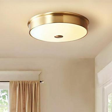 วงกลม Flush Mount Ambient Light โลหะ แก้ว Creative 220-240โวลต์ วอมไวท์ รวมแหล่งกำเนิดไฟ LED / แบบมี LED