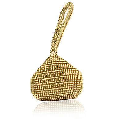 baratos Super Ofertas-Mulheres Detalhes em Cristal PU Bolsa de Mão Rhinestone Crystal Evening Bags Preto / Dourado / Prata