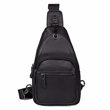 e5eb40b825cb Men's Bags Cowhide Sling Shoulder Bag Zipper Black / Coffee 6913466 2019 –  $44.99