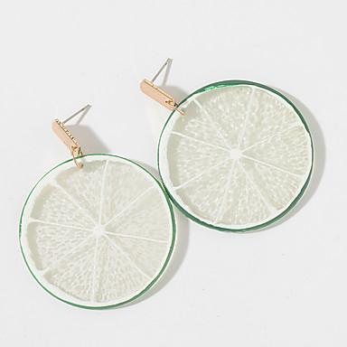 billige Moteøreringer-Dame Dråpeøreringer geometriske Frukt Tropisk Koreansk søt stil øredobber Smykker Grønn Til Fest Avslappet 1 par