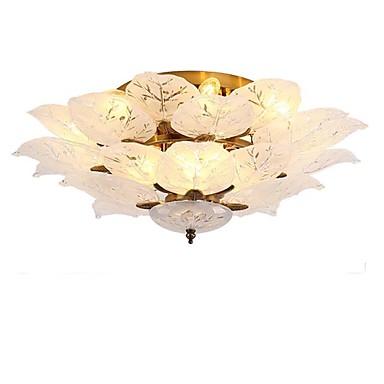 QIHengZhaoMing Takplafond Omgivelseslys galvanisert Metall Glass 110-120V / 220-240V Varm Hvit / Kald Hvit Pære Inkludert