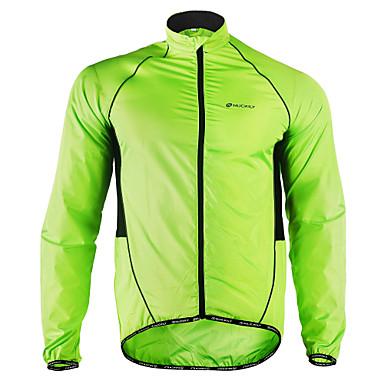 Nuckily Hombre Chaqueta de Ciclismo Bicicleta Chaqueta Paravientos Impermeable Impermeable Resistente al Viento Transpirable Deportes Poliéster Invierno Verde Trébol Ciclismo de Montaña Ciclismo de