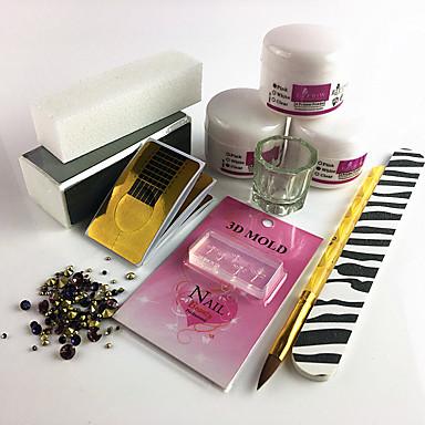 voordelige Nagelgereedschap & Apparatuur-Acryl Kit Voor Vingernagel Duurzaam Nagel kunst Manicure pedicure Eenvoudig Dagelijks