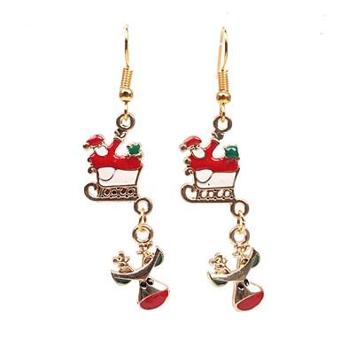 voordelige Dames Sieraden-Dames Druppel oorbellen Lang Elk Skateboard Dames Eenvoudig oorbellen Sieraden Goud Voor Kerstmis 1 paar