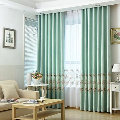economico Per le tue finestre-Modern tende tende Due pannelli Tenda / Camera da letto