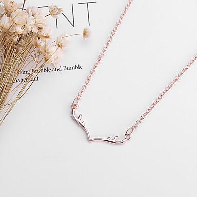 povoljno Modne ogrlice-Žene Charm Necklace Klasičan Los dame Jednostavan Slatka Style Legura Zlato Pink Rose Gold 48+5 cm Ogrlice Jewelry 1pc Za Božić Dnevno