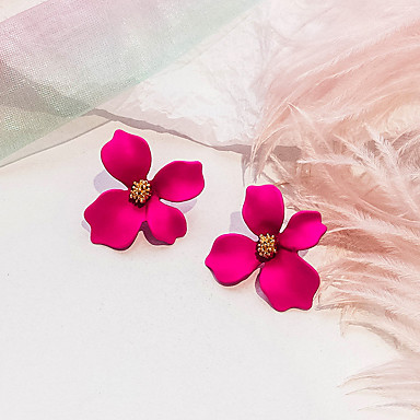 f9dc7e5b9 Women's Retro Stud Earrings Earrings Flower Ladies European Sweet Fashion  Elegant everyday Jewelry Rose / Green / Pink For Party Daily 1 Pair