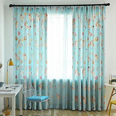 occultant rideaux tentures deux panneaux 2 w140cm l259cm bleu chambre coucher de 6927024