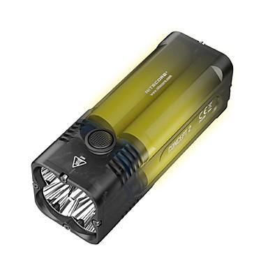 abordables Lampes & Lanternes de Camping-Nitecore C2 Lampes de poche LED LED 4 Émetteurs 6500 lm avec Adaptateur Cool Camping / Randonnée / Spéléologie Usage quotidien Chasse